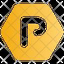 Sign Hexagon Parking Icon