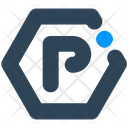 Sign Hexagon Parking Icon