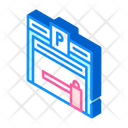 Parking Building Isometric Icon