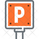 Parking Sign Signal Icon