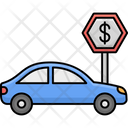 Parking Charges Dollar Sign Car Parking Fee Icon