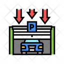 Parking Entry Gate Closing Icon