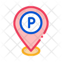 Parking Geolocation Car Icon