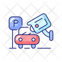 Parking Security Camera Icon