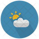 Partially Cloudy With Sun Icon