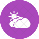 Partly Cloudy Cloud Icon