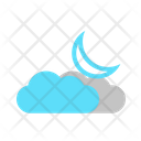 Partly Cloud Night Partly Cloudy Night Party Cloudy Icon
