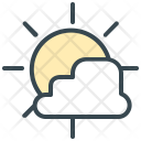 Partly Cloudy Sun Icon