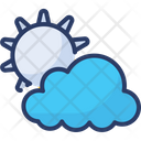 Partly Cloudy Weather Shiny Icon
