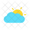 Partly Cloudy Weather Forecast Icon