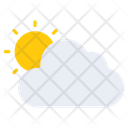 Weather Partly Cloudy Cloudy Day Icon