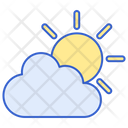 Partly Cloudy Day Sunny Day Bright Icon
