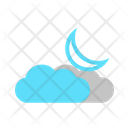 Partly Cloud Night Night Clouds Icon