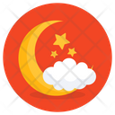 Partly Cloudy Night Nighttime Night Sky Icon