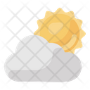 Partly Cloudy Weather Increasing Clouds Weather Forecast Icon