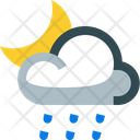 Partly Drizzling Night Icon