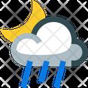Partly Rainy Night Icon