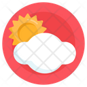 Cloudy Day Partly Sunny Partly Cloudy Icon
