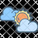 Sun Light Cloud Weather Icon
