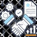 Business Handshake Business Partnership Contract Icon