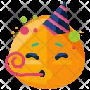 Party Emoji Face Icon