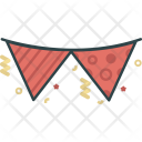 Party Flag Decoration Icon
