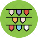 Party Flags Buntings Icon