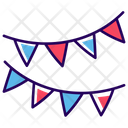 Party Bunting Flags Icon