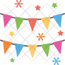 Bunting Flags Event Icon