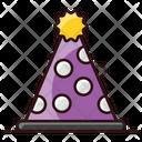 Party Cap Birthday Cap Cone Hat Icon