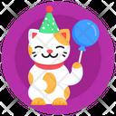 Birthday Cat Party Cat Pet Birthday Kitten Birthday Icon