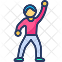 Party Dance Fit Jump Nightlife Icon