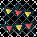 Party Flag Celebration Decoration Icon