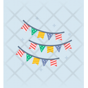 Party Flags Garlands Wedding Banners Icon