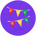 Party Flags Garlands Christmas Decoration Icon