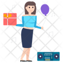 Party Girl Celebration Party Icon