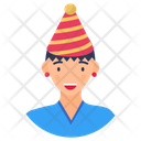 Party Girl Female Party Person Icon