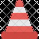 Cone Road Sign Urban Icon