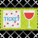 Drink Invitation Ticket Party Ticket Icon