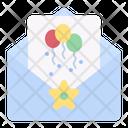 Invitation Birthday Party Icon