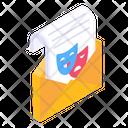 Mail Invitation Letter Party Invitation Icon