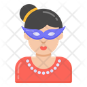 Party Girl Party Mask Eye Mask Icon