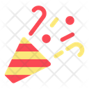 Party Popper New Year Celebration Icon