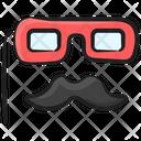 Glasses Moustache Party Props Icon