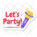 Party Singing Icon