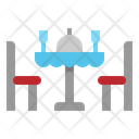 Table Dinner Chairs Icon