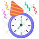 Celebration Time Party Time Party Clock Icon