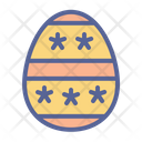 Egg Decorated Easter Icon