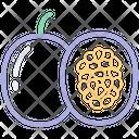 Passion Fruit Fruits Icon