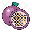 Passionfruit Food Eat Icon